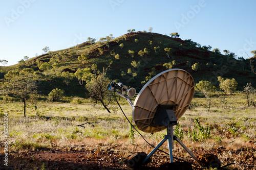 Tuinposter Canyon Satellite Dish - Outback Australia