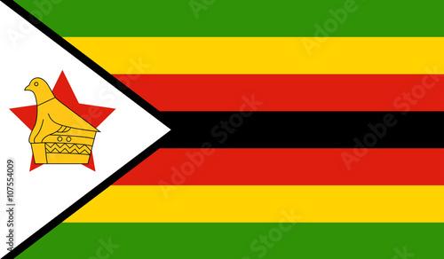 Plakat Flaga Zimbabwe