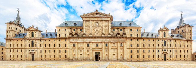 Facade of Royal Monastery Escorial (1584) near Madrid, Spain