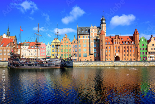 Gdansk Main Town from the river, Poland