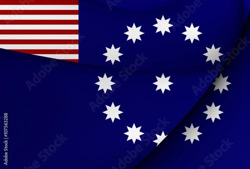 Fotografie, Obraz  Flag of Easton, USA.