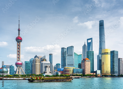 Canvas Prints Shanghai View of Pudong skyline (Lujiazui) in Shanghai, China