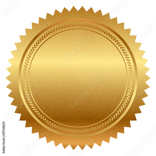 Photo Vector illustration of gold seal