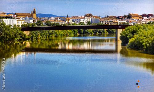 Poster Cracovie River Guadalquivir Bridge Cordoba Spain