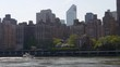 summer day roosevelt island new york manhattan eastside panorama 4k usa