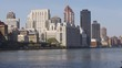 manhattan sunset roosevelt island bay panorama new york 4k usa