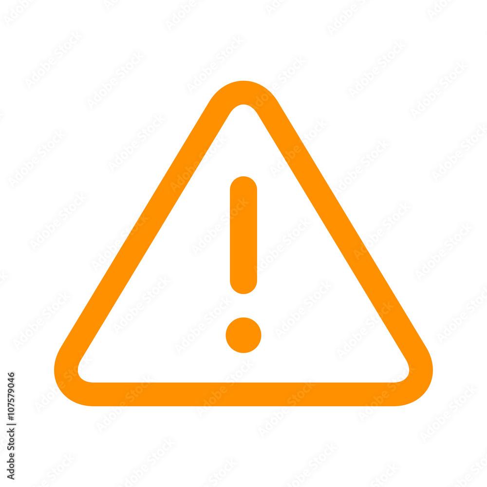 Fototapeta Alert warning or notification alert yellow line art icon for apps and websites
