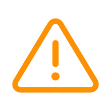 Alert Warning Or Notification Alert Yellow Line Art Icon For Apps And Websites