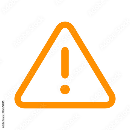 Alert warning or notification alert yellow line art icon for apps and websites - fototapety na wymiar