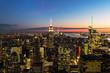 Blick vom Top of the Rock auf Manhattan nach Sonnenuntergang