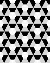 Fototapeta Abstract black and white background, seamless vector pattern