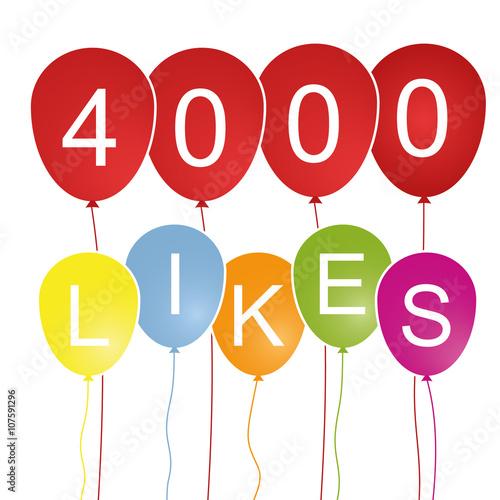 Fotografie, Obraz 4000 Likes - Luftballons