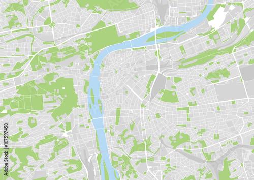 Plakat wektorowa mapa miasta