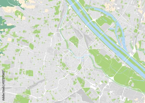 Fototapeta premium wektorowa mapa miasta Wiednia, Austria