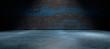 canvas print picture - Fondo abstracto,suelo de cemento y pared de la calle en la oscuridad. hormigon