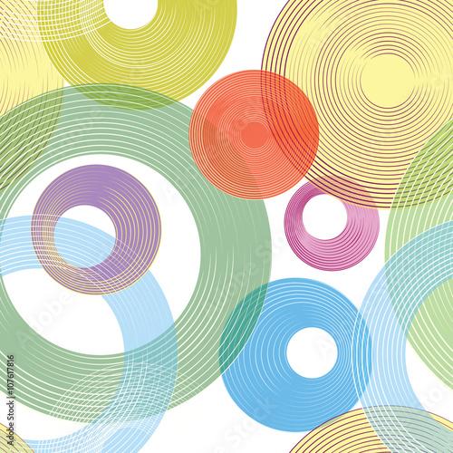 Obraz na płótnie Abastract geometric seamless pattern Bubble ornamental background