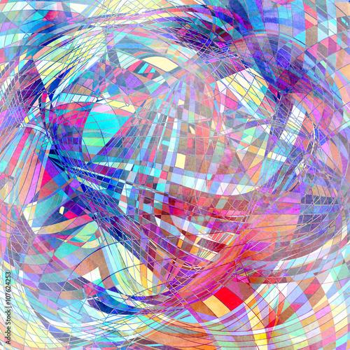 Fotografie, Obraz  Abstraktní akvarel pozadí