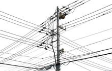 電柱と電線 背景素材