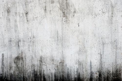 Photo  汚れたコンクリートの白い壁