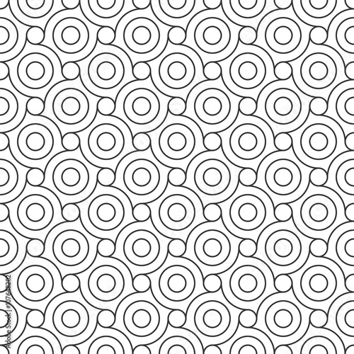 mata magnetyczna Seamless Geometric Pattern. Regular Tiled Ornament. Vector.