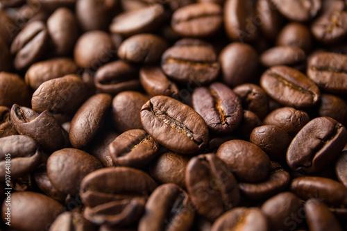 Fototapeta premium Palone ziarna kawy