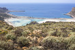 Balos bay at Crete island in Greece. Area of Gramvousa.
