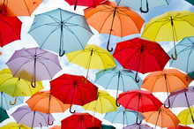 Colorful Umbrellas Floating