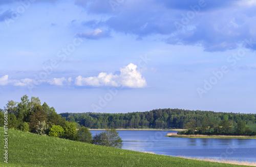 Zdjęcie XXL Mazury - jezioro i pola