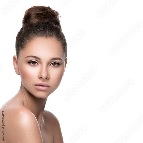 Fotografia, Obraz  Beautiful girl with perfect skin