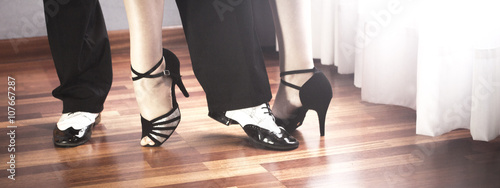 Ballroom dance latin dancers Fototapete