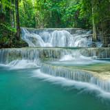 Beautiful green waterfall, Located Karnjanaburi Province , Thailand