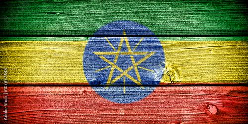 Fotografie, Obraz  flag of Ethiopia