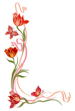 Background For Text With Tulip...