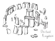 Hand Drawn Sketch Of Stonehenge United Kingdom Isolated