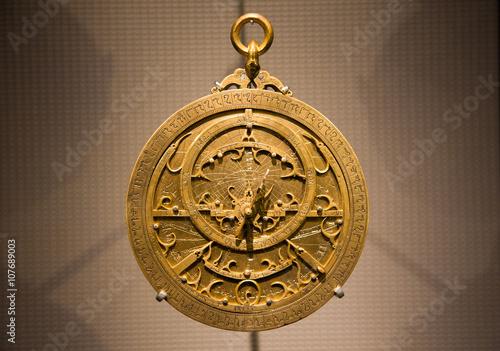 Old Arabic astrolabe Canvas Print