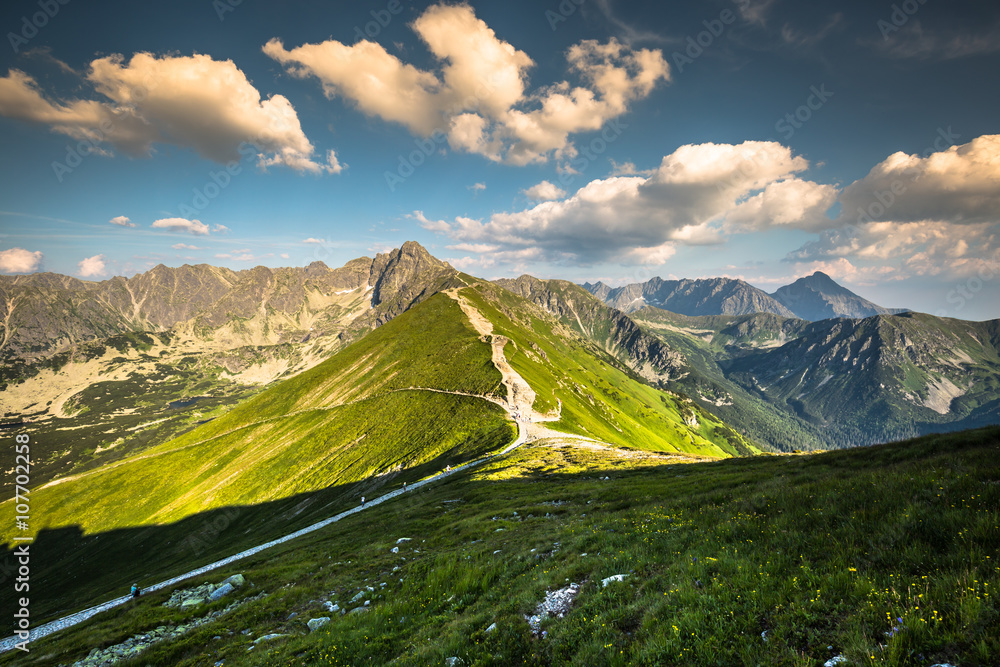 View from Kasprowy Wierch Summit in the Polish Tatra Mountains