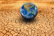 The Earth On Dry Ground. Elements Of This Image Furnished By NAS