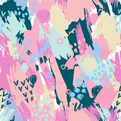Fototapeta samoprzylepna Seamless Pattern with Grunge Elements.