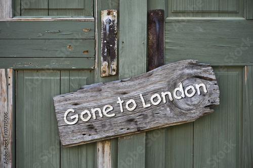 Poster Texas Gone to London.