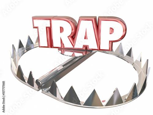 Photo Trap Ambush Risk Danger Avoid Bear 3d Word