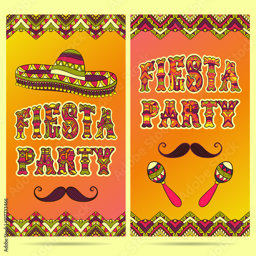 beautiful greeting card invitation for fiesta festival design concept for mexican cinco de mayo