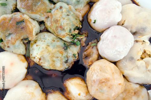 Foto op Aluminium Vlees Garlic chives dim sum or Garlic Chive Dumplings