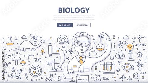 Fotografía  Biology Doodle Concept