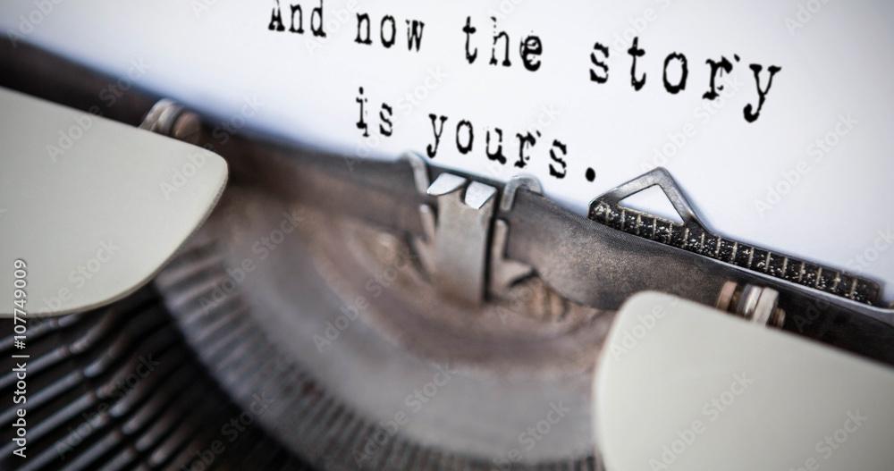 Fototapeta Composite image of a sentence