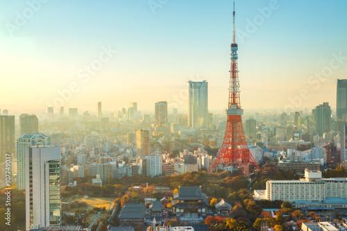 Plakat wieża Tokyo
