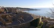 amphitheatre of tarragona and the mediterranean sea bay 4k spain