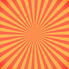 Red And Yellow Sunburst Pattern Background