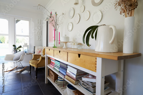 Valokuva  Sideboard In Dining Room Of Contemporary Family Home