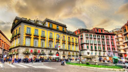 Garden Poster Napels Piazza Trieste e Trento in Naples