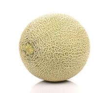 Big Melon On White Background.